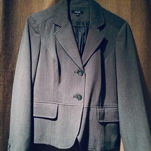 Rafaella Grey Lined Blazer Jacket Sz 8